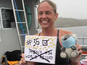 Chloe McCardel breaks men's Channel crossing record