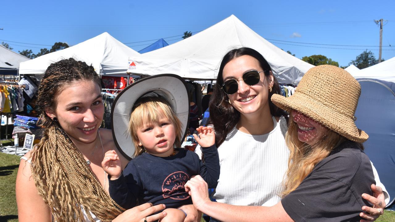 Jordan, Rin, Emma and Madi enjoying the Lismore Car Boot Markets at the Lismore Showgrounds.