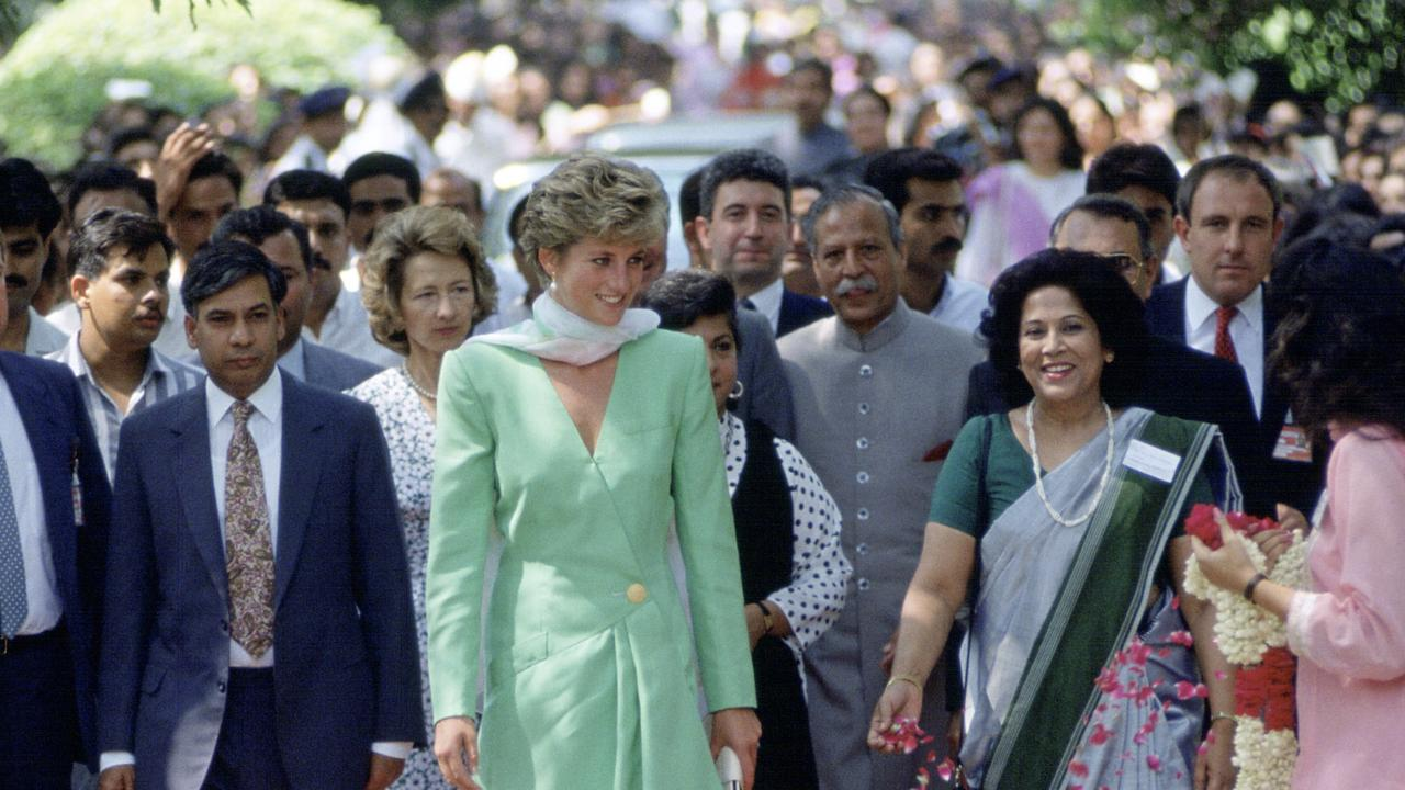 Princess Diana visiting Kinnaird College For Women in Lahore, Pakistan. Picture: Tim Graham Photo Library via Getty Images
