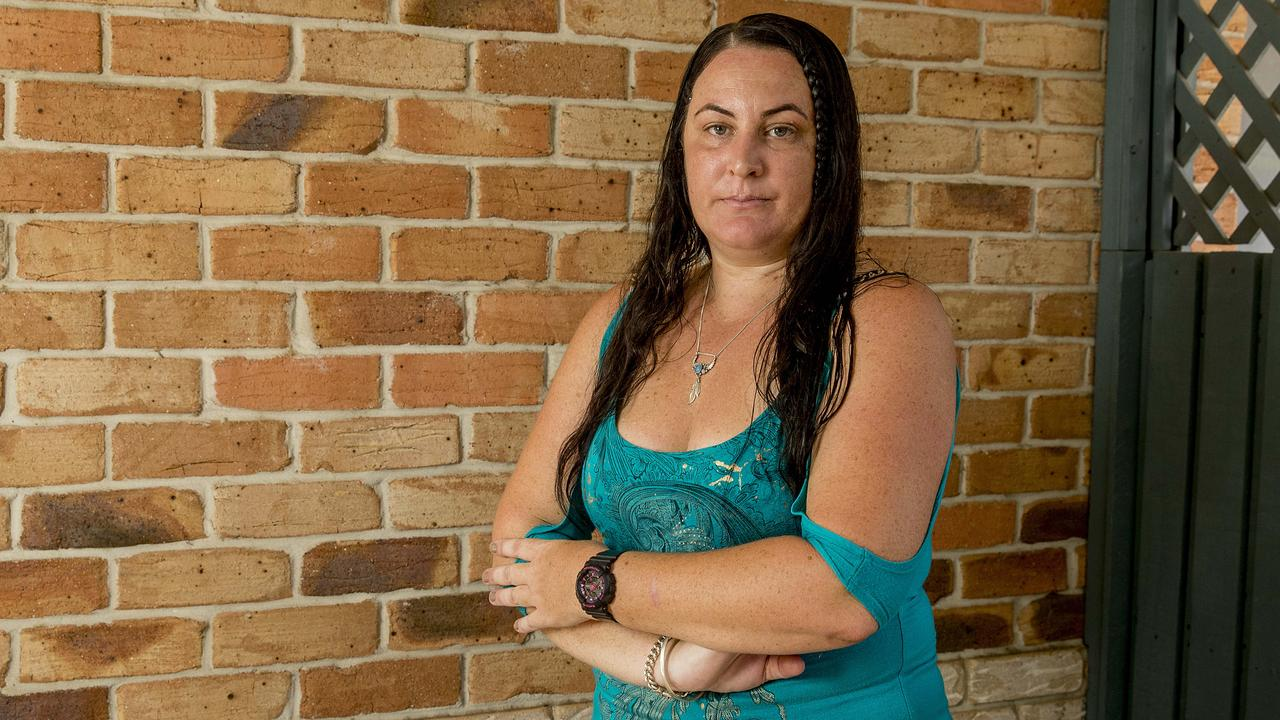 Kristy Atley slipped on mushy banana while carrying her 8-week old and shopping at Woolworths and is now taking the supermarket to court. Picture: Jerad Williams