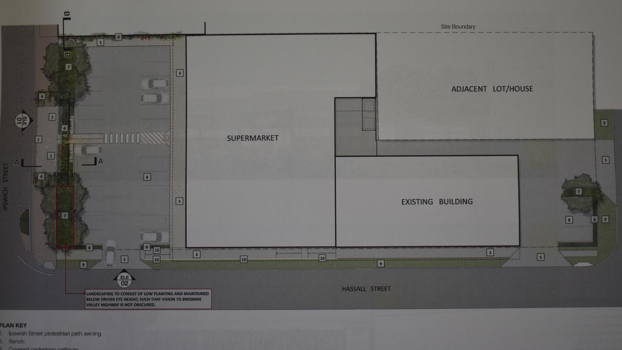 The layout of the planned IGA development in Esk. Source: SRC agenda.