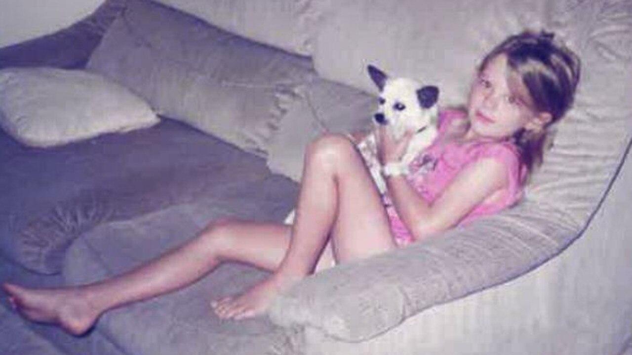 Shandee Blackburn as a child. She was killed while walking home on February 2013.