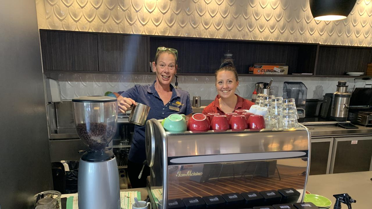 READY: Byron RSL Club staff members Jackie Simpson and Jo Lander, happy to see the venue open again.