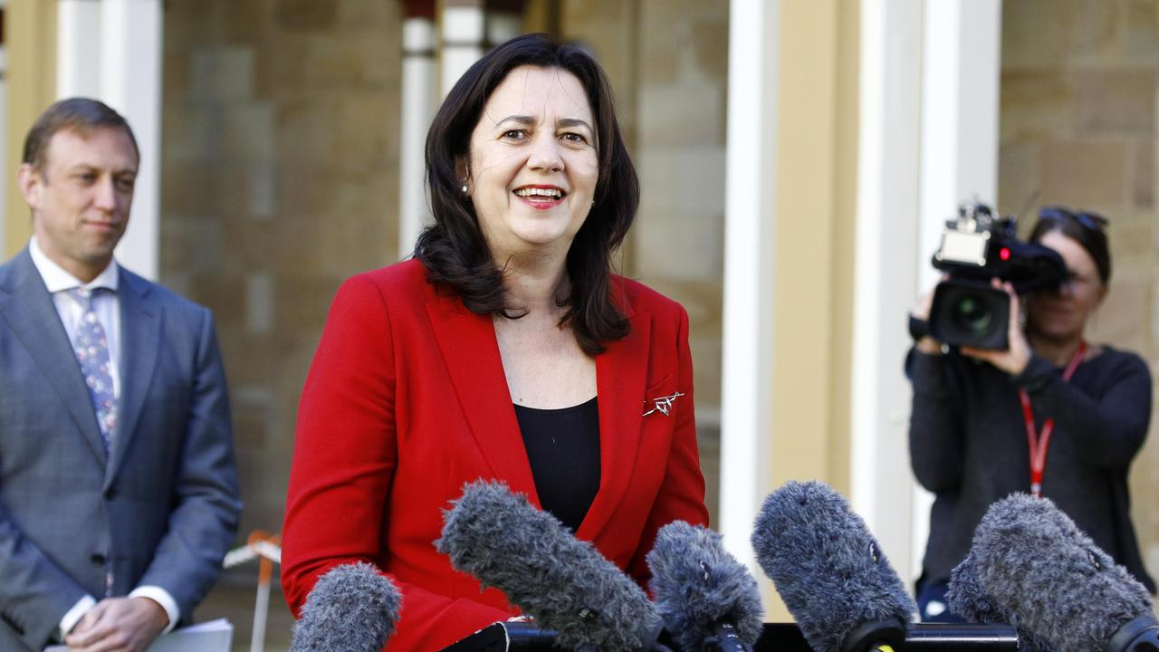 BRISBANE, AUSTRALIA - NewsWire Photos August 17, 2020: Queensland Premier Annastacia Palaszczuk during a press conference in Brisbane. Picture: NCA NewsWire/Tertius Pickard
