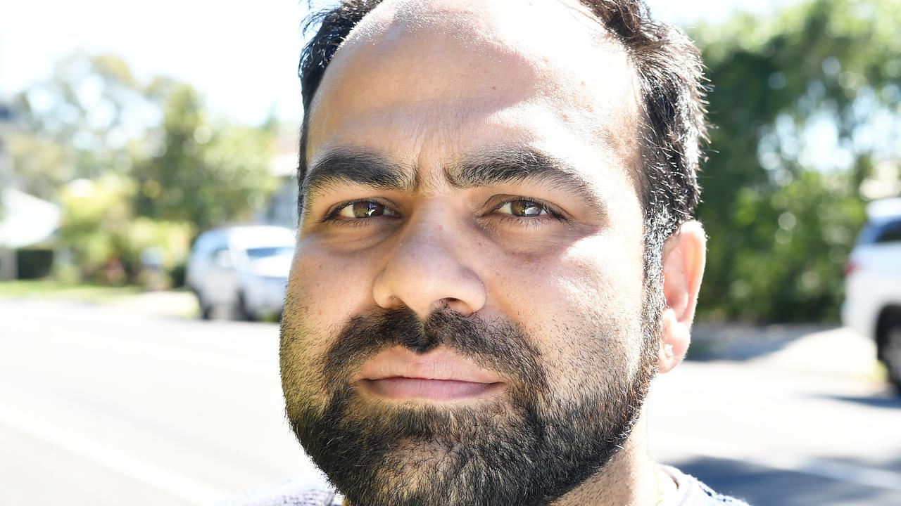 Chetan Khanna says he followed a black car after being hit from behind while waiting to turn into Golf Links Rd at Buderim. Photo Patrick Woods / Sunshine Coast Daily.