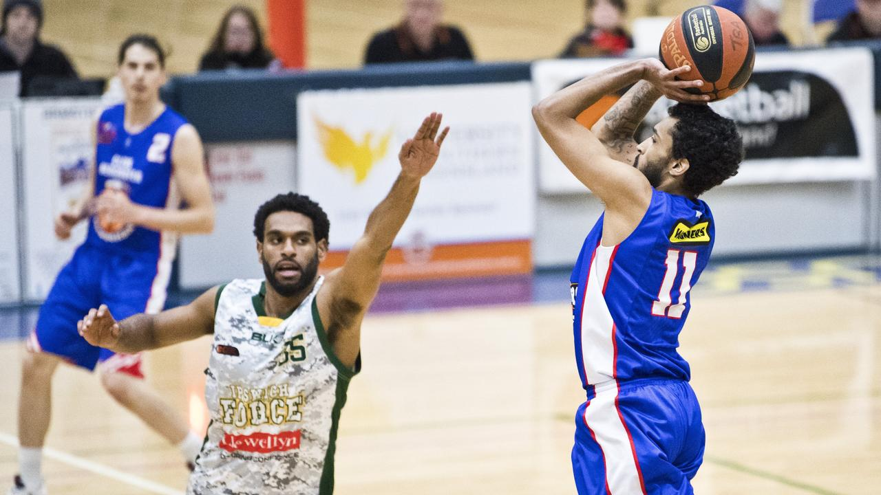 Ipswich Force basketballer Jesse Ghee is making some valuable early contributions in the Queensland State League competition. Picture: Nev Madsen