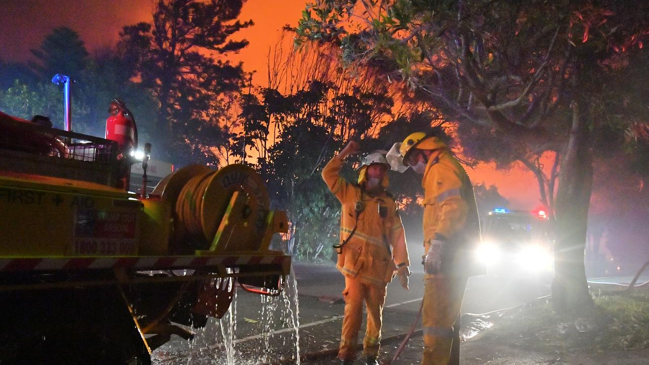 A monstrous and devastating fire ripped through Peregian Springs.
