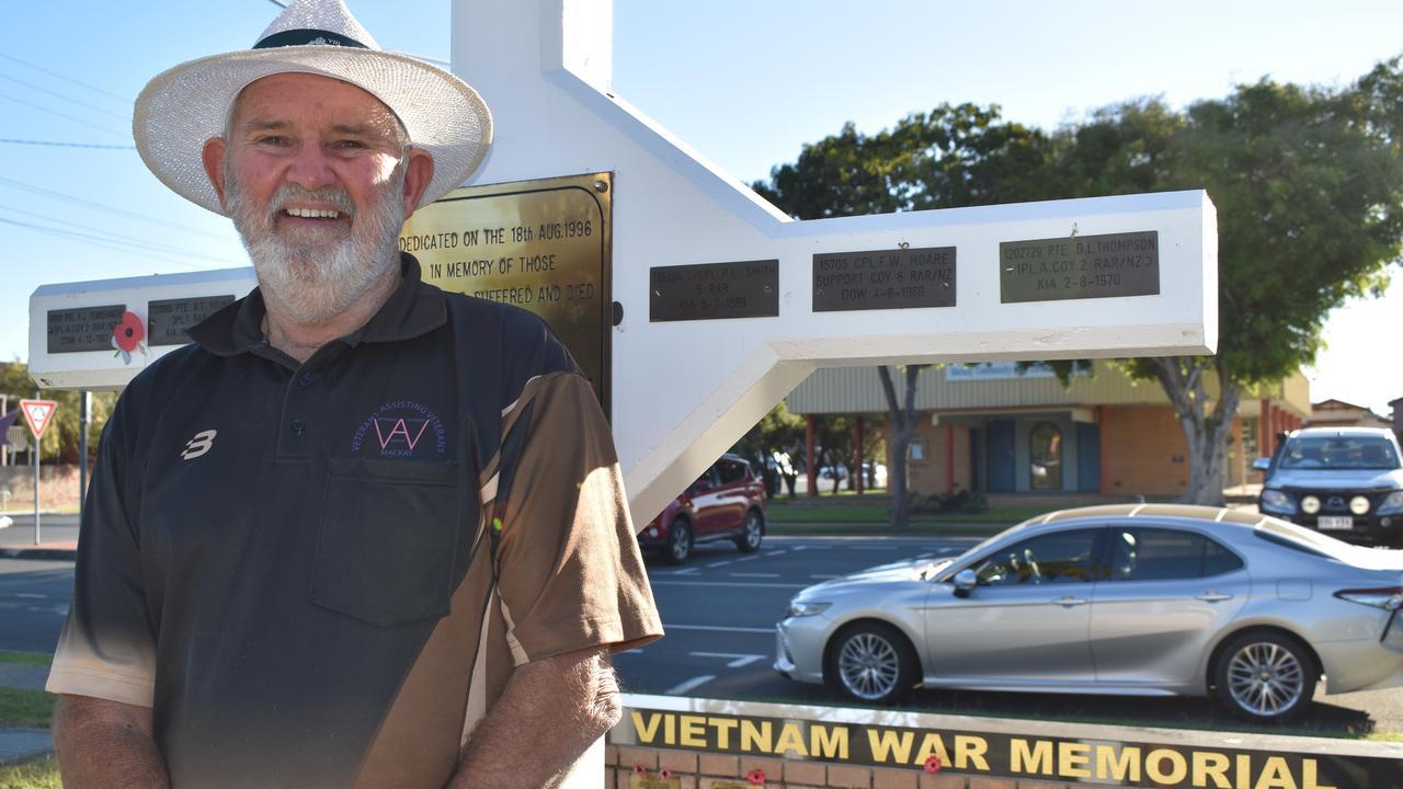 Vietnam War veteran and Mackay Veterans Group president Leslie Palmer will lead the Vietnam Veteran's Day ceremony at Jubilee Park. Picture: Heidi Petith