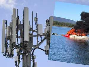 Lake Proserpine boat fire reignites calls for phone tower