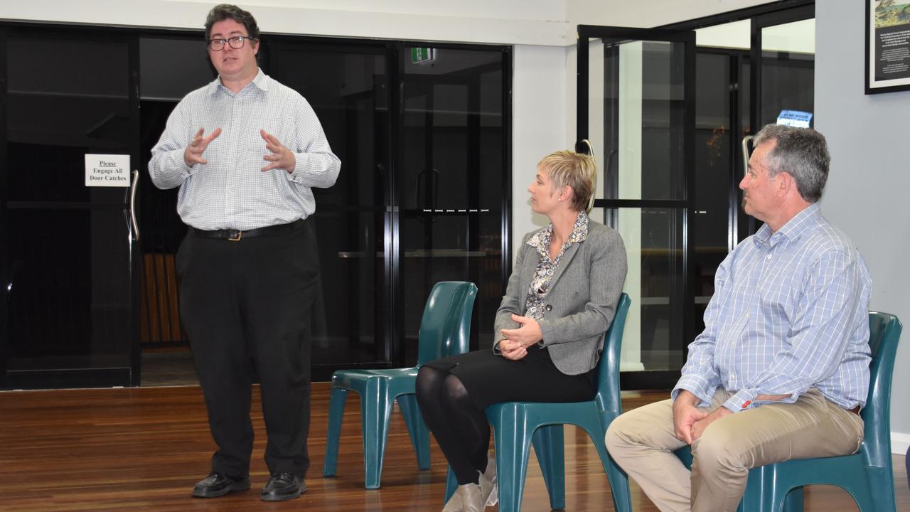 CRIME FORUM: Dawson MP George Christensen, LNP Whitsunday candidate Amanda Camm and LNP Mackay candidate Chris Bonanno. Picture: Melanie Whiting
