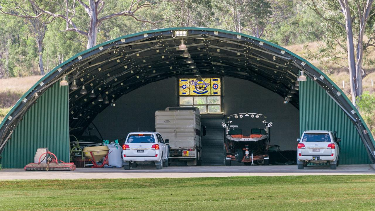 The Richardsons spent $14 million upgrading the Wirraway property including two aircraft hangers.