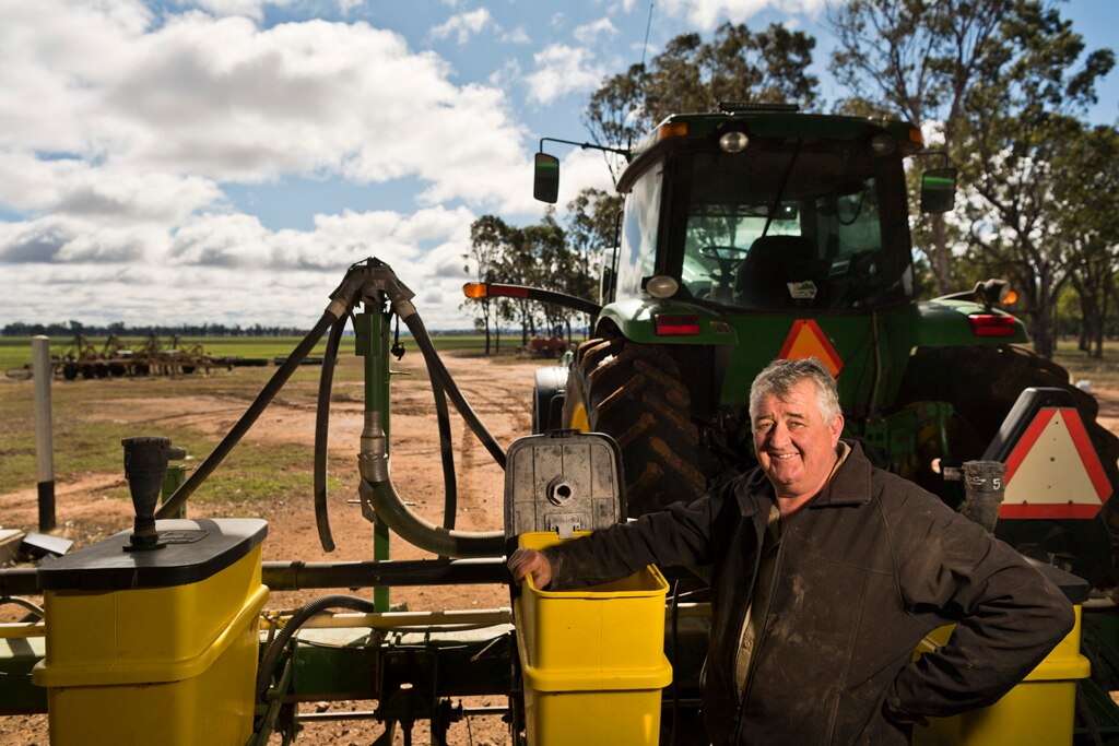 Felton farmer Michael Meara, getting machinery ready to plant a chickpea crop, is cautiously optimistic that future weather patterns will bring a good season, Tuesday, July 14, 2020. Picture: Kevin Farmer