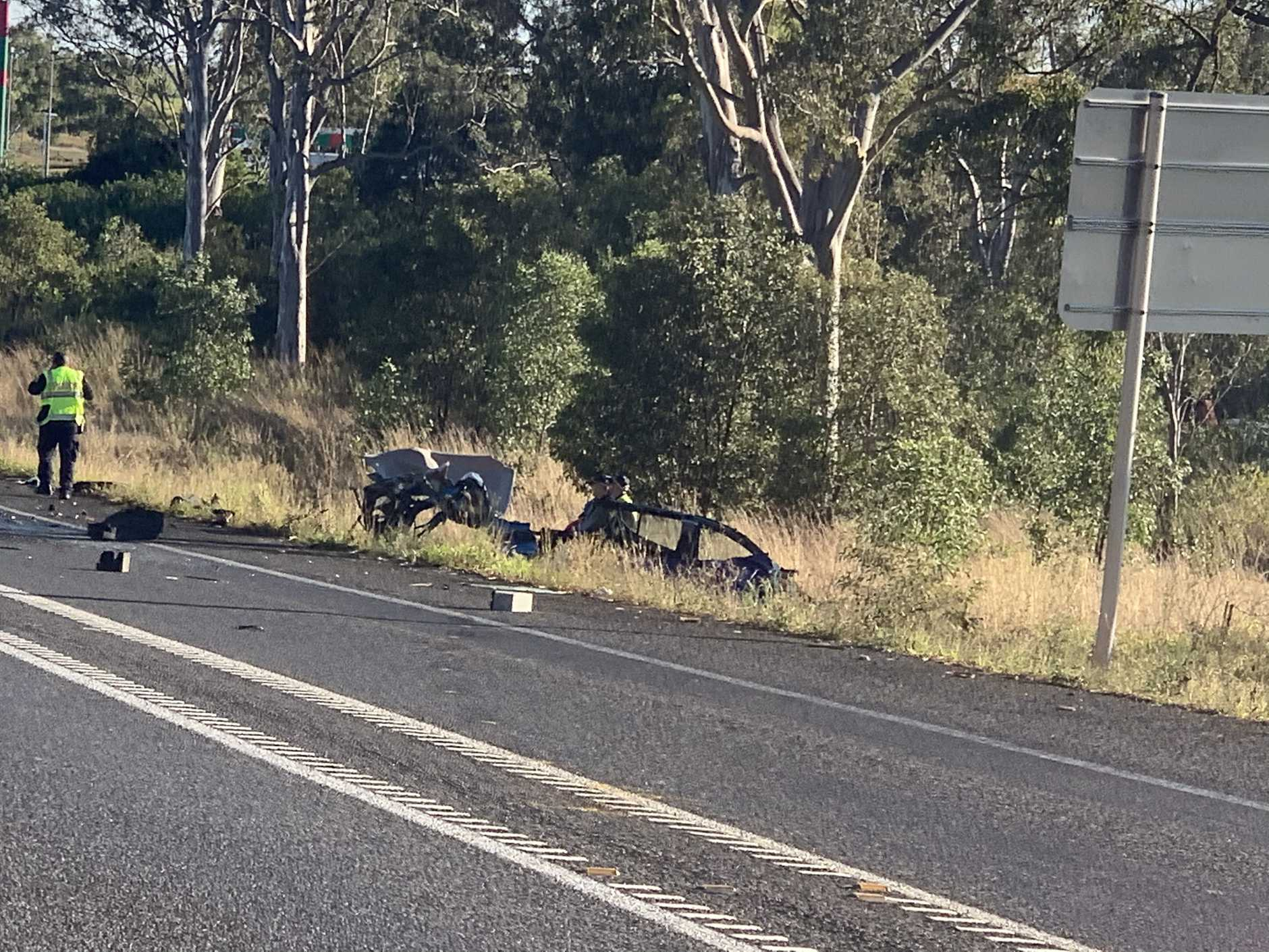 One person has been killed in a horror crash on the Bruce Highway.