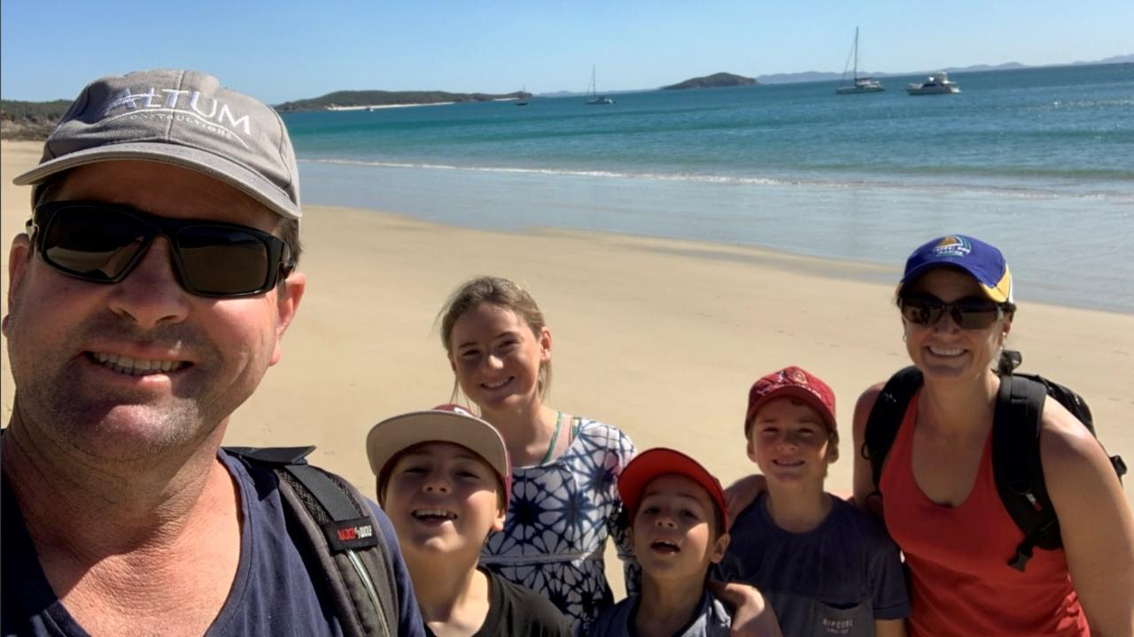 ISLAND DREAM: Altum Property Group Developer Rob McCready, his wife Leigh and their kids love visiting Great Keppel Island where they are hopeful of building a new resort but they are unhappy in their dealings with the Queensland Government.