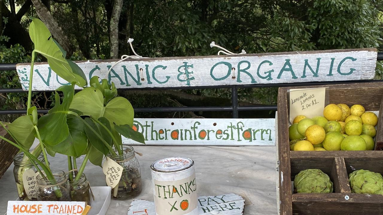 Roadside produce stall Rose Rd.
