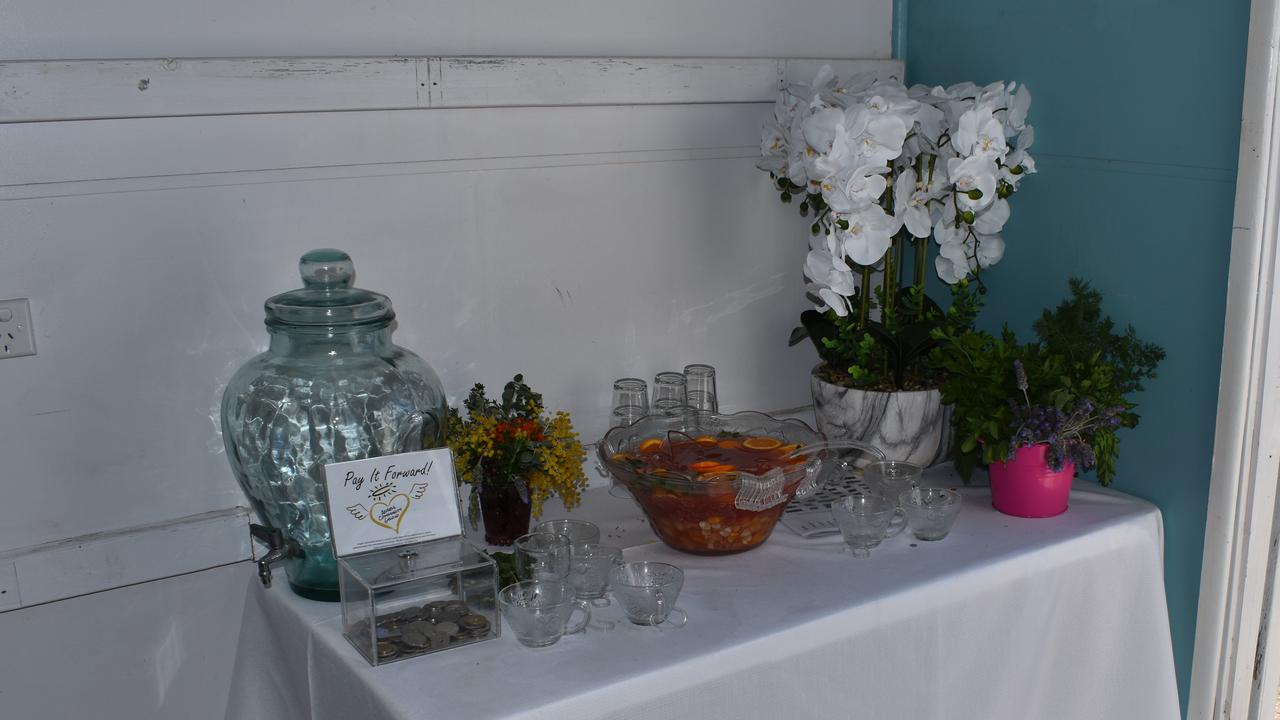 GLASS HALF FULL: Angels Community Group set up a beverage bar, with delicious fruit punch proving to be very popular. Picture: Rhylea Millar.