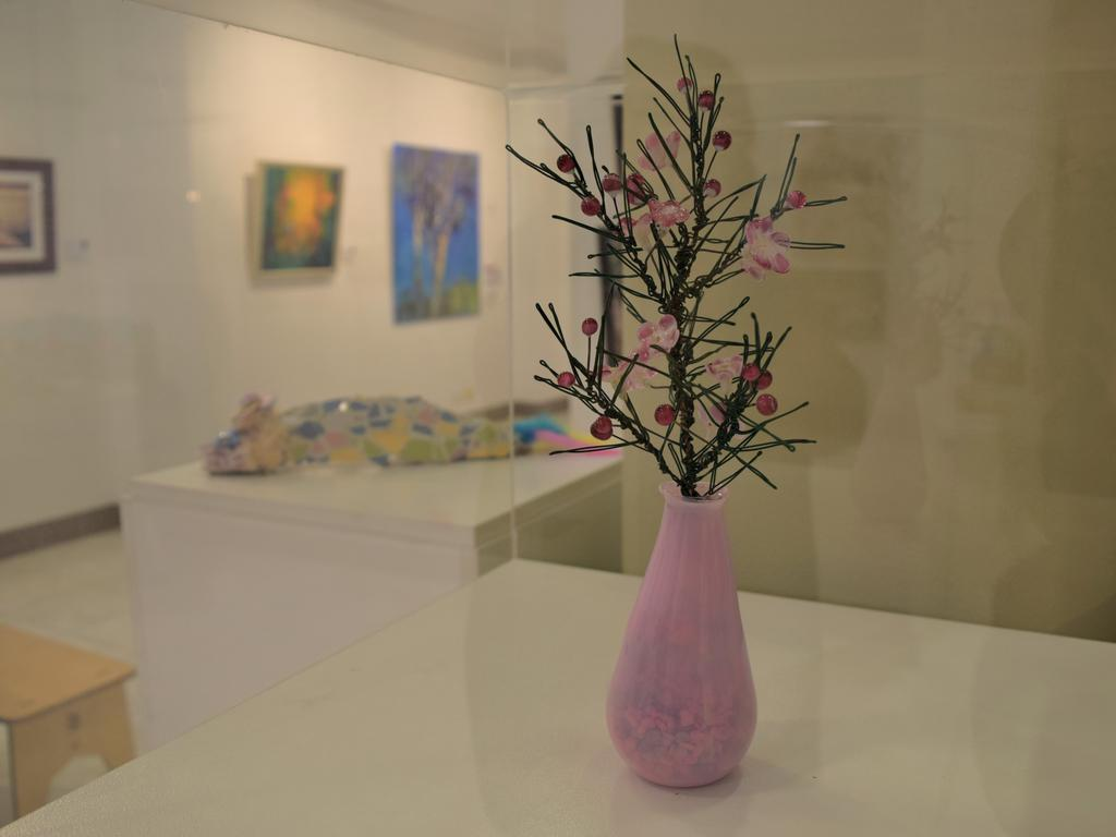Emerald artists Michelle Gray and Raelene Bock have collaborated on a number of art works, combining metal and glass.