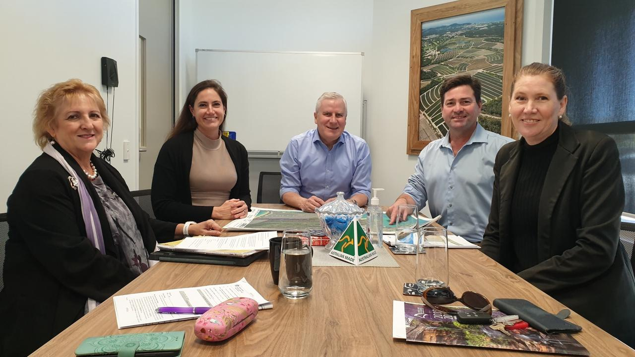 SHARING PLANS: Aspiring developers looking to take over the leases of GKI resort development Leigh and Rob McCready have met with Capricornia MP Michelle Landry, Deputy Prime Minister Michael McCormack and Capricorn Enterprise Chief Executive Mary Carroll.