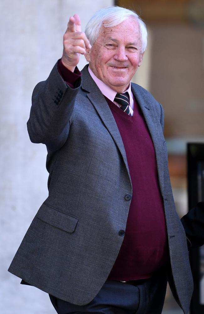 Former Kimberley College principal Paul Thomson leaves Brisbane Supreme Court today. Picture: Dan Peled/NCA NewsWire