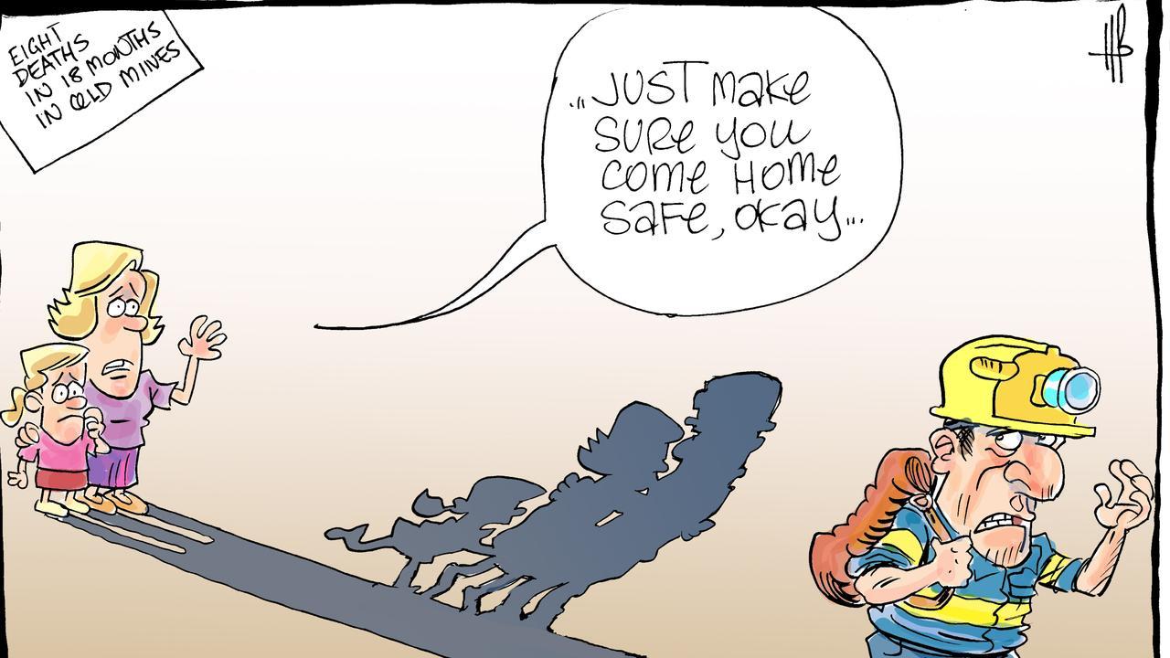 MINE SAFETY: Harry Bruce's cartoon.