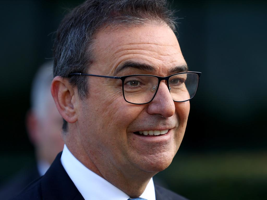 South Australian Premier Steven Marshall is hopeful international travellers will return to the state in 2021. Picture: Kelly Barnes/NCA NewsWire