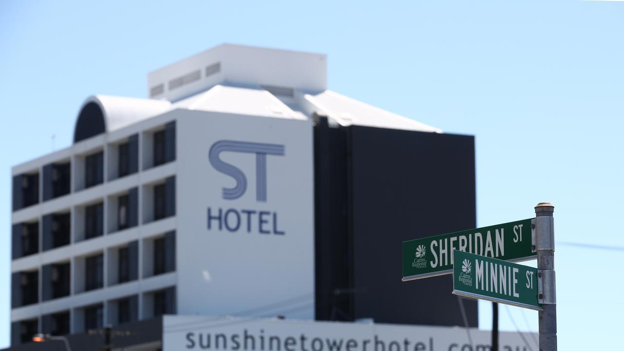 Sunshine Tower Hotel on Sheridan Street, where the body of Brisbane man Anthony Brady, 52, was found on Friday. PICTURE: BRENDAN RADKE
