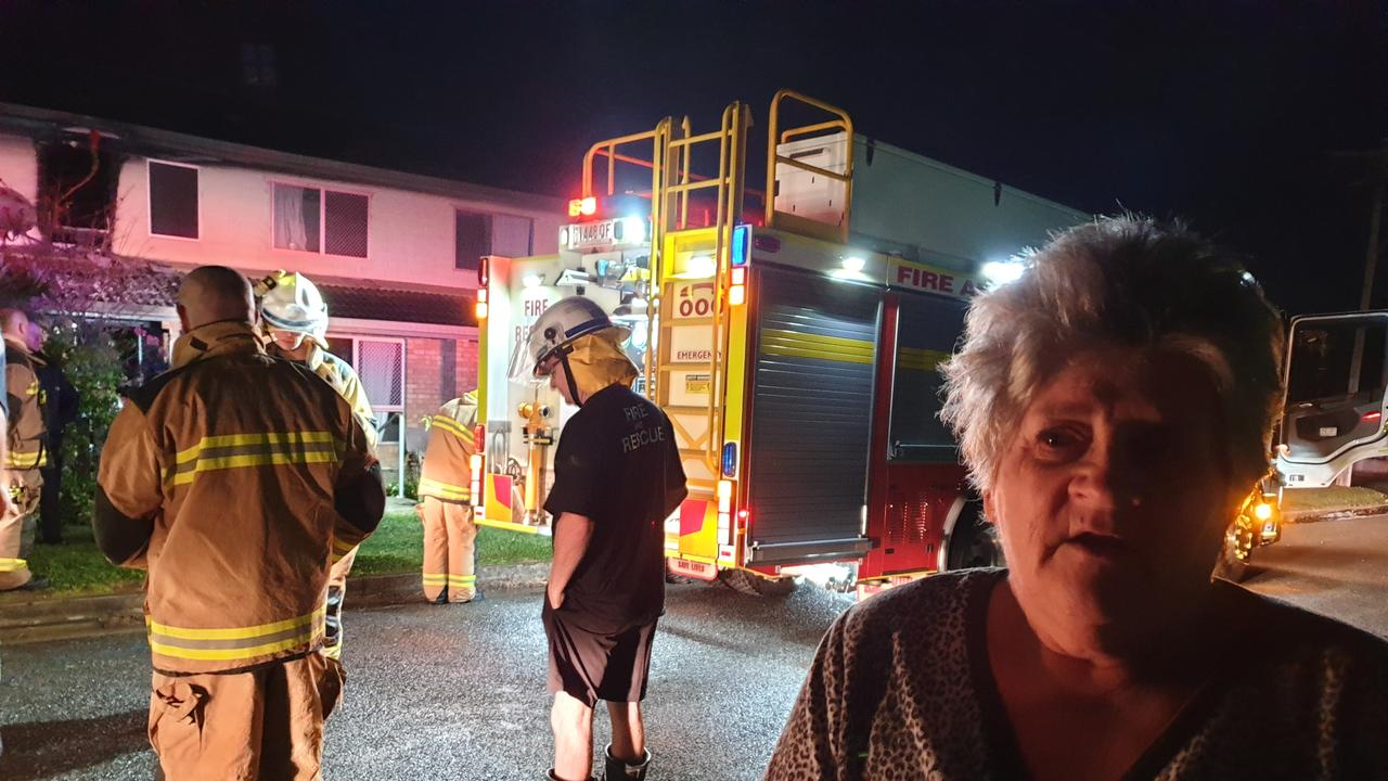 """Neighbour Patricia Dwyer, who lives six doors from the burnt unit, said it had been a """"close shave""""."""