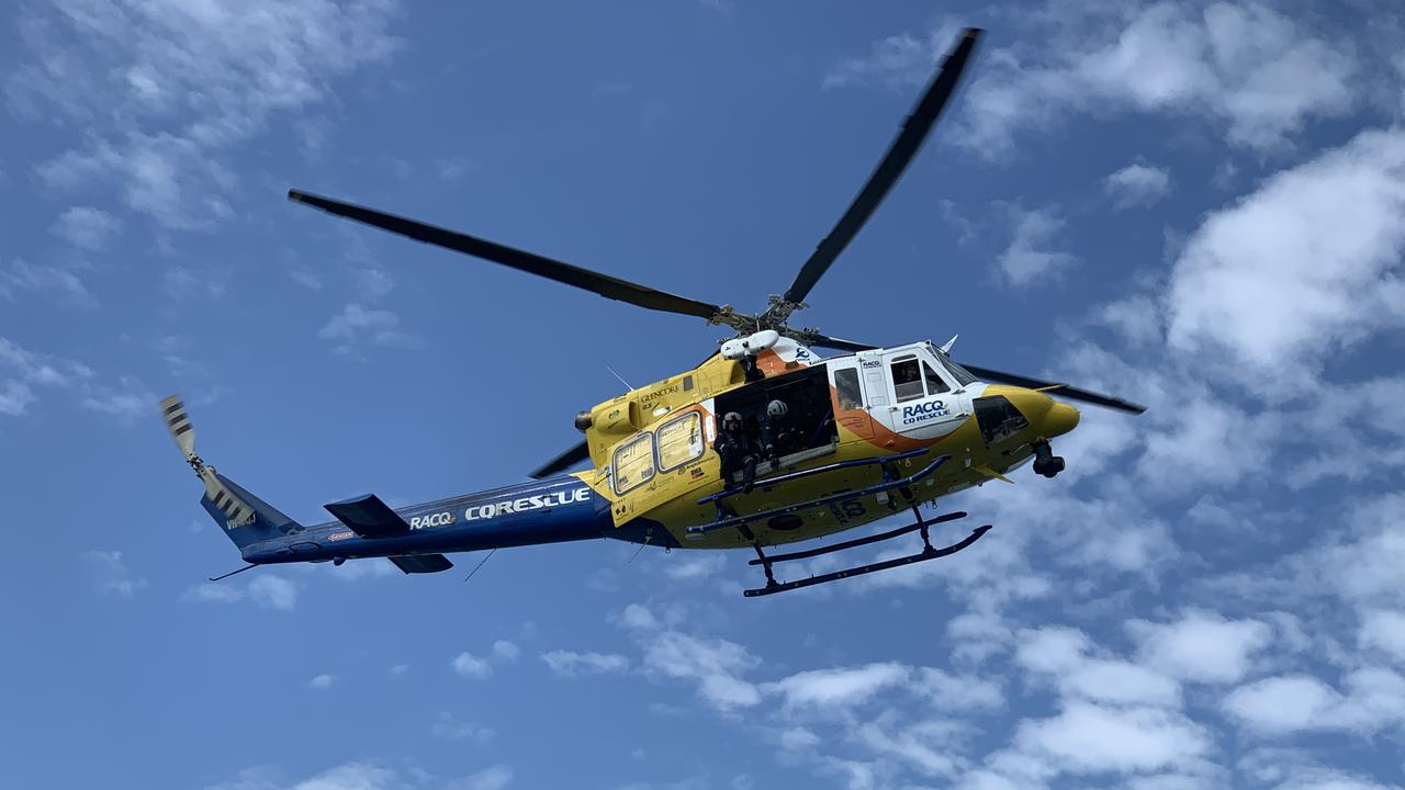 A Mackay RACQ CQ Rescue chopper was called to a primary medical task on a vessel near Gould Reef