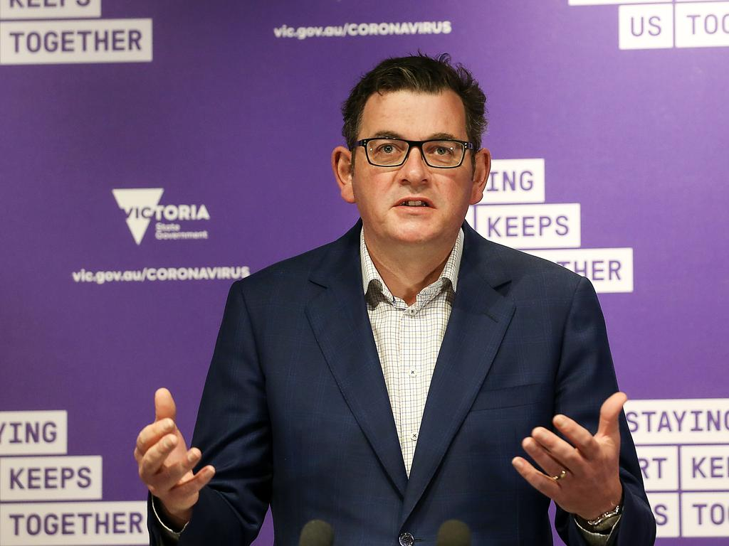 Victorian Premier Daniel Andrews has insisted that Australian Defence Force support was not on offer to help with enforcing hotel quarantine. Picture : NCA NewsWire / Ian Currie