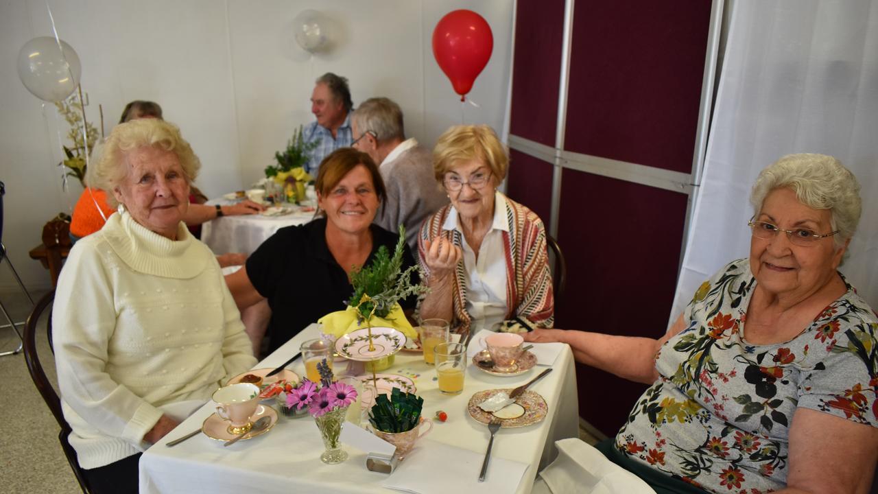 BREW-TI-FUL FRIENDSHIPS: Patricia Ellerton, Sue Tasker, Mary Paterson and Anne Larsen. Picture: Rhylea Millar.