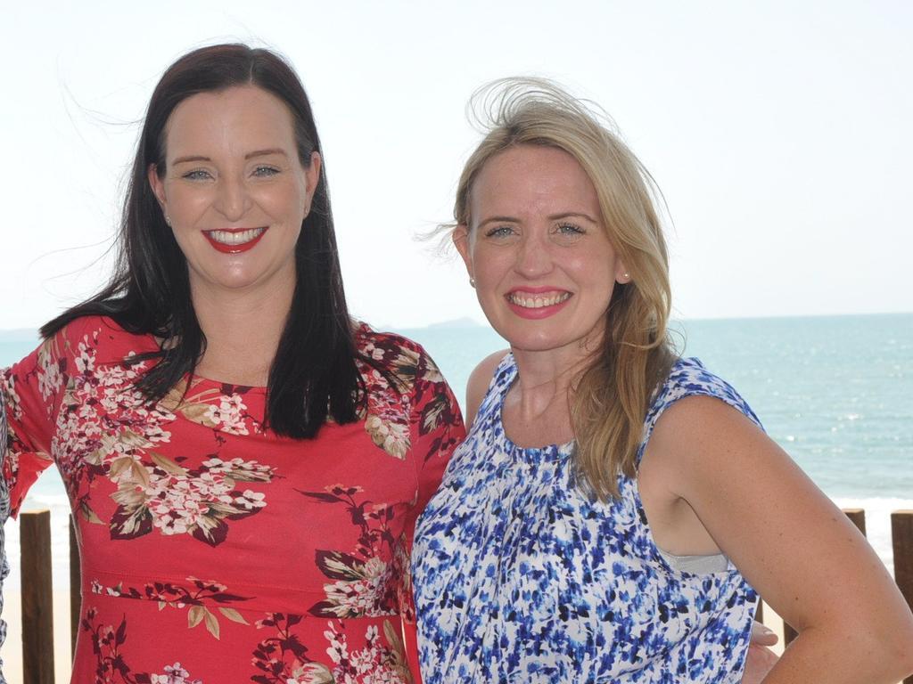 Member for Keppel Brittany Lauga and Tourism Minister Kate Jones at the 2017 announcement promising $25 million for GKI's revitalisation.