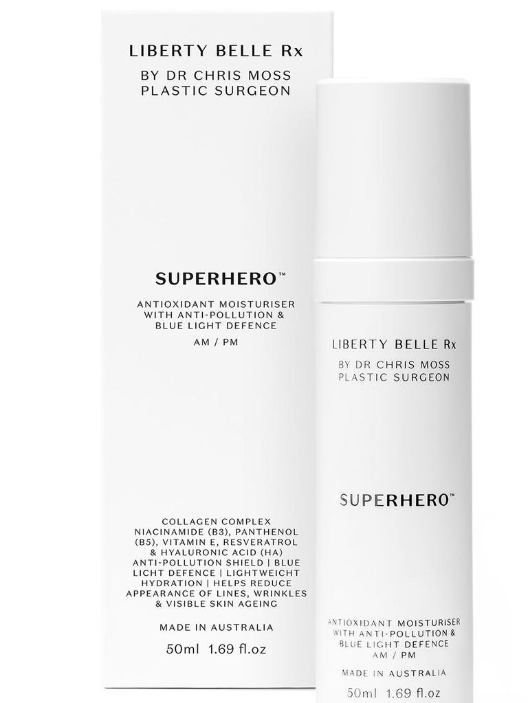 Liberty Belle Rx's Superhero moisturiser. Picture: Supplied