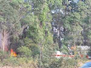 Crews rush to scene as fire tears through Coast home