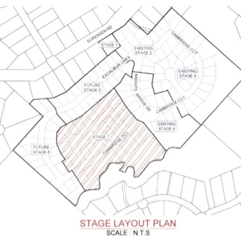 Map of stages 5-7 of Sovereign Heights, Southside development