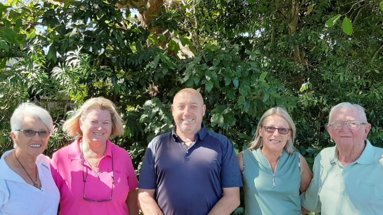 Whitsunday Golf winners (from left) Paula McQuat (ladies' B-grade winner), Anna Winterbourn (ladies' A-grade runner-up) Don Cameron (men's B-grade winner) and Peter Browning (men's B-grade runner-up). Absent: Pauline Redpath, Dean Barnard, Glenn Rees. Photo: Contributed