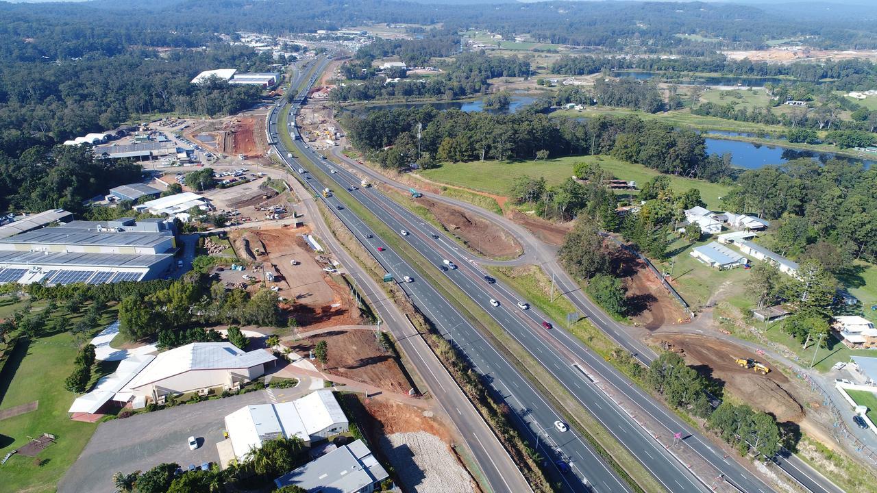 DRONE: Aerial photos upgrade of the Bruce Highwayupgrades heading towards Forest Glen. Photo Patrick Woods / Sunshine Coast Daily.