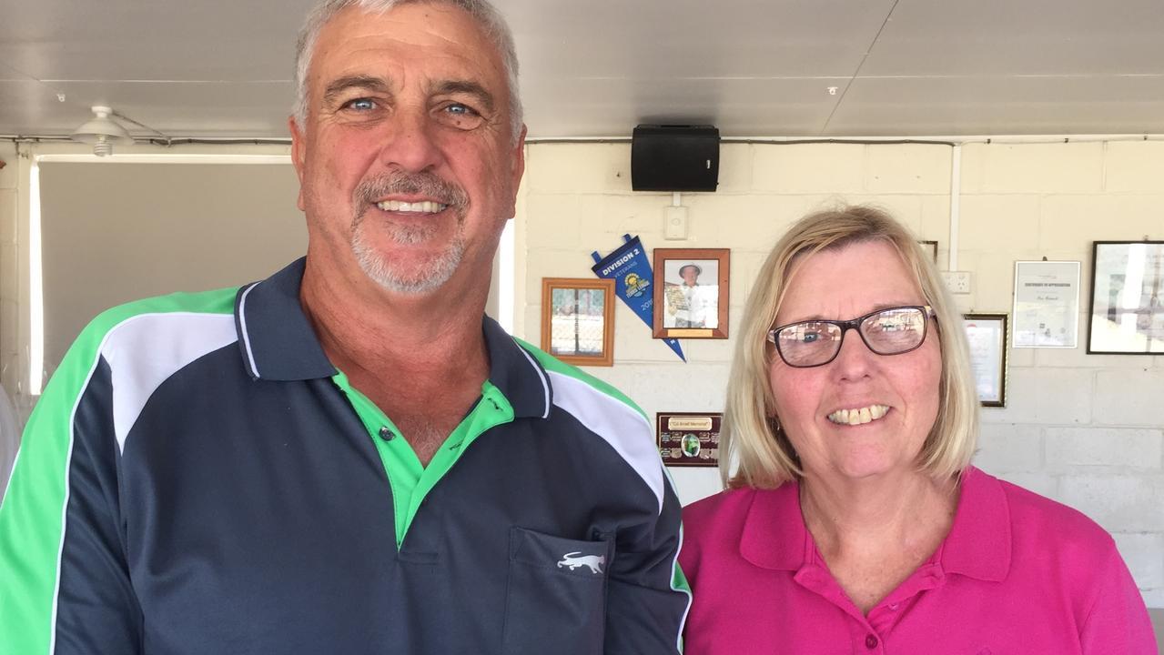 President's Day men's winner Michael McDougall and women's winner Leanne Evans