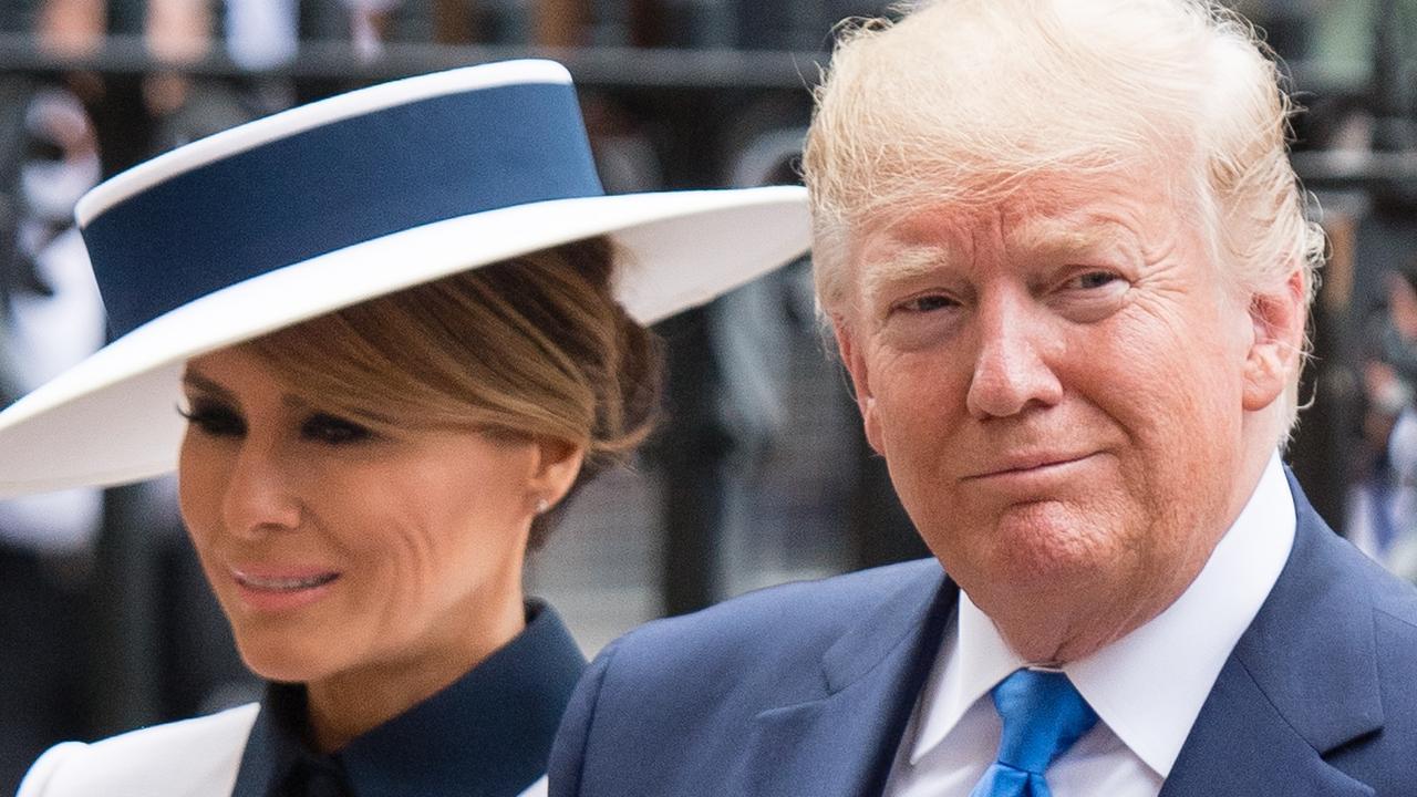 US President Donald Trump and First Lady Melania Trump. (Photo by Samir Hussein/Samir Hussein/WireImage)