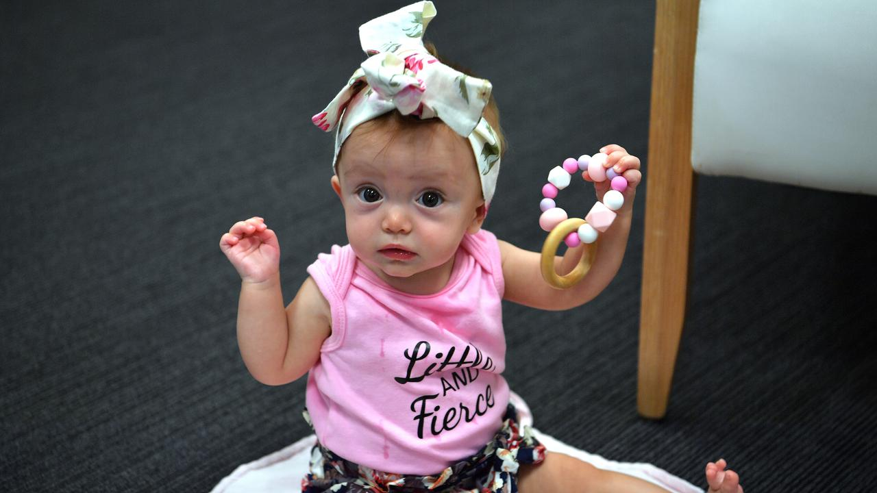 MIRACLE BUB: Mackenzie Anderson was born prematurely at Sunshine Coast University Hospital. Now she's the face of the Wishlist Giving Day on Thursday, August 20. Photo: John McCutcheon