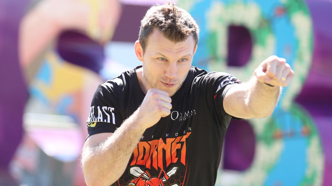 Jeff Horn says his build up will be a lot less stressful without his family in attendance.