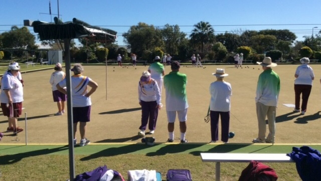 Gympie Bowls Club members enjoying being back on the green under warm Gympie winter skies.