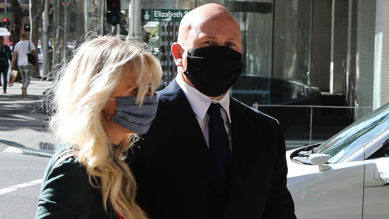 The story of why ex Wallaby Brett Sheehan's wife is standing by him has been revealed in court as he appeals his conviction for choking her.
