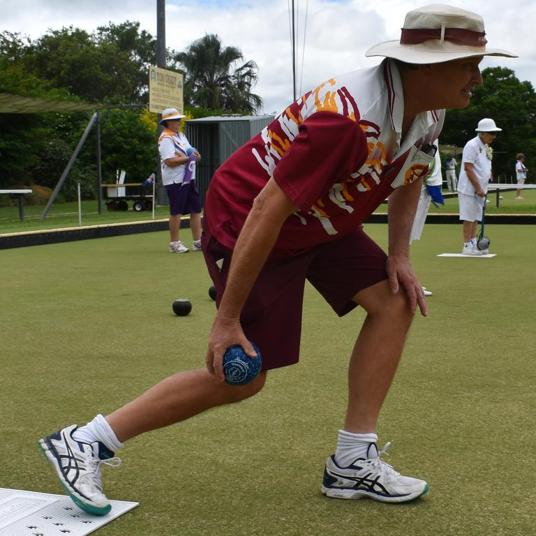 FILE PHOTO: Gympie Division Ladies Bowls Association president Joyce Irvine's official day - Kilkivan Bowls Club's Randall Hewson. Photo: Bec Singh