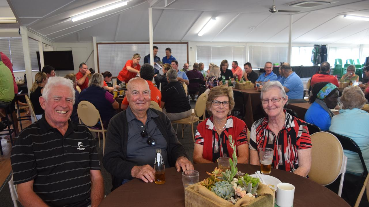 Albert Pini (second from left) was declared the overall Monthly Medal winner on Saturday. He's pictured here with (from left) Jim Grace, Di Dobbins and Marlene Gray at the Proserpine Golf Club. Photo: File