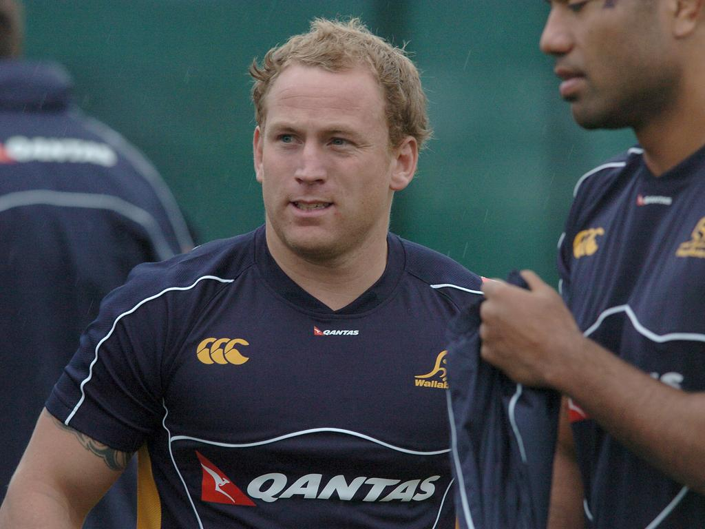 Brett Sheehan while he was playing for the Wallabies.