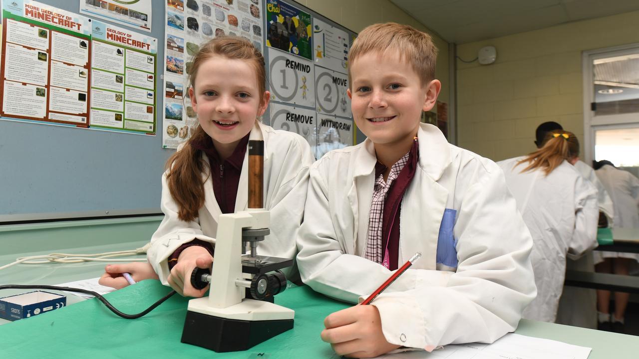 St Mary's Catholic School students Indi Shepley and Oscar Crack. PHOTO: ALI KUCHEL