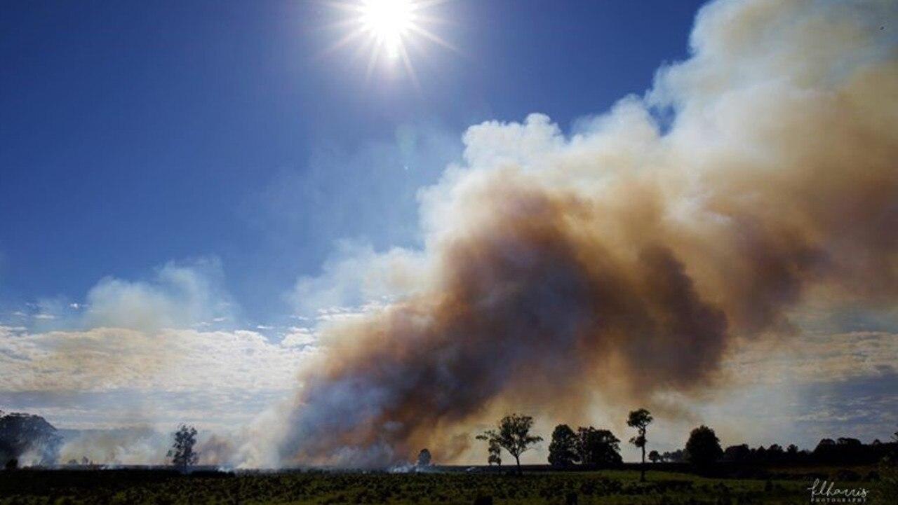 A fire at Duranbah has burnt more than 225ha.