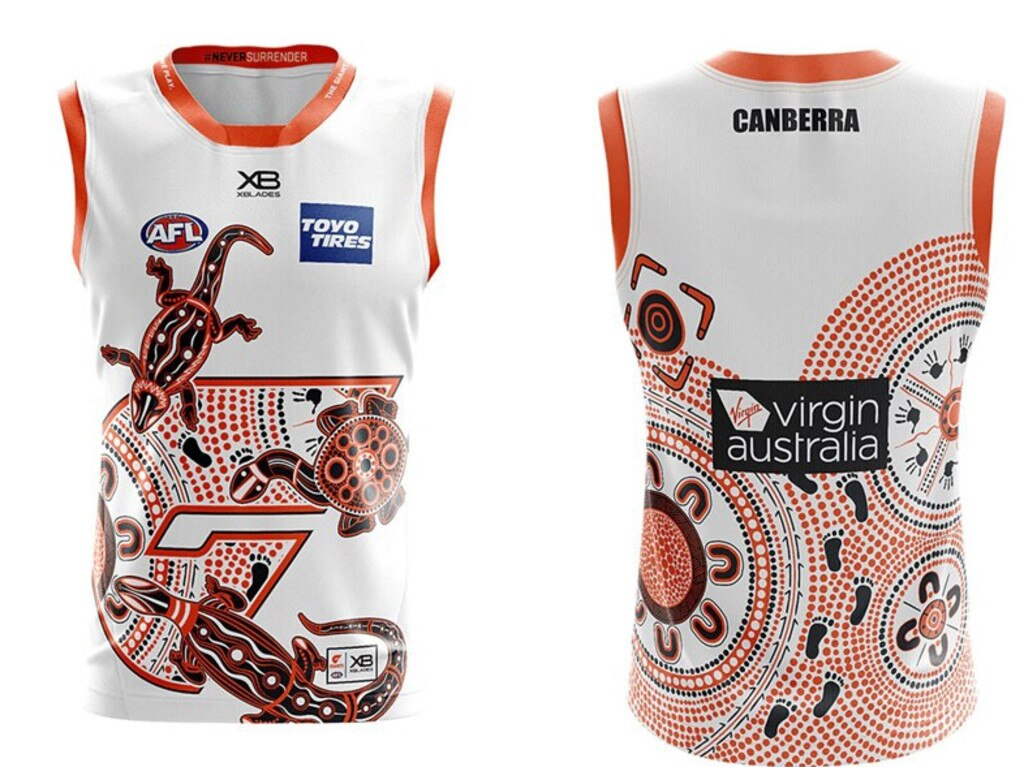 GWS Giants 2020 Sir Doug Nicholls Indigenous Round jumper.