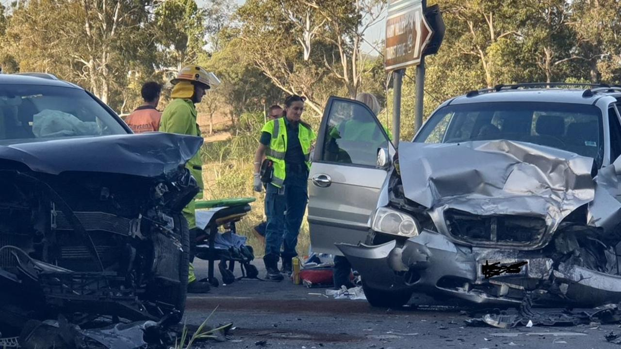 Another terrible accident in the Mary Valley this afternoon with one person still trapped in a vehicle