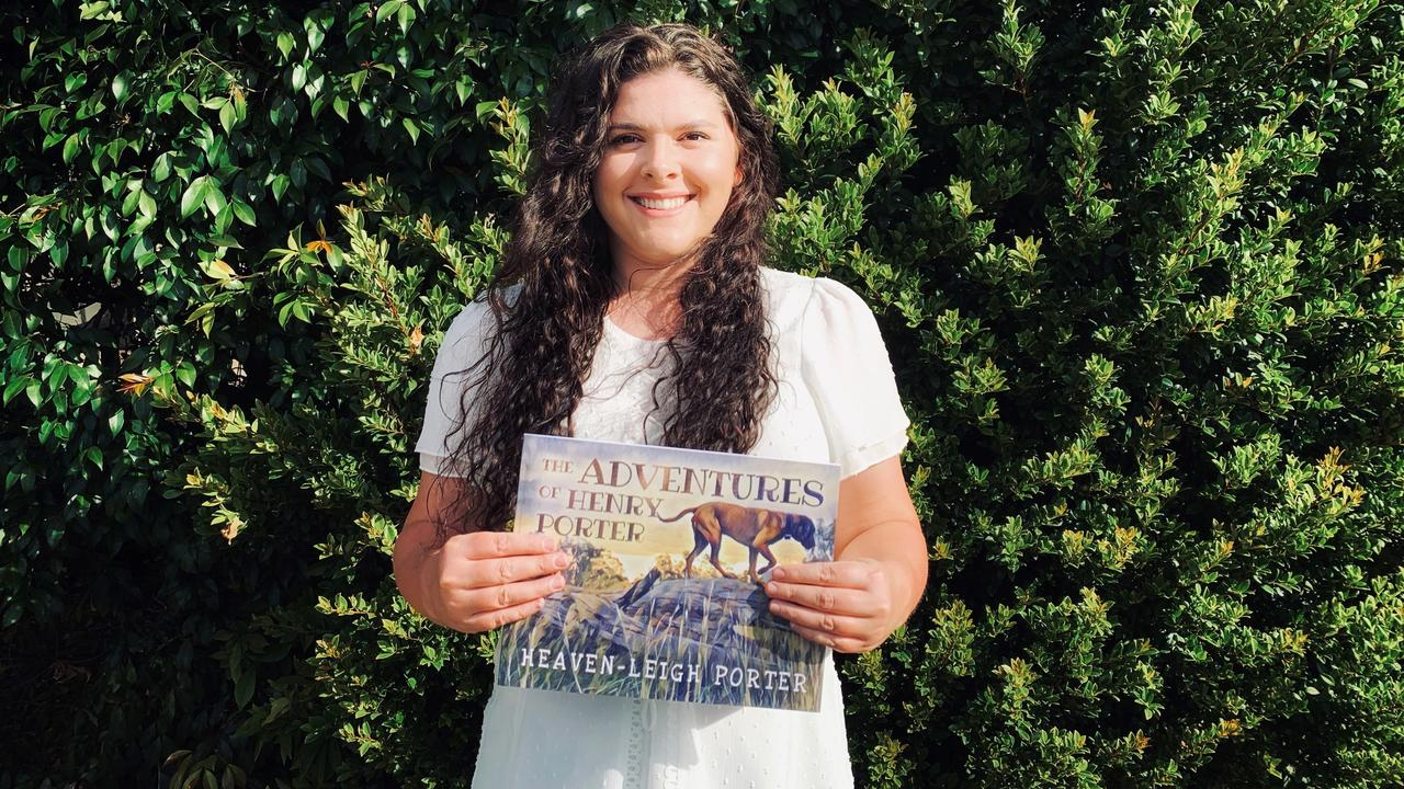 NEW BOOK RELEASE: South Burnett author Heaven-Leigh Porter with her new book 'The Adventures of Henry Porter'. Picture: Contributed